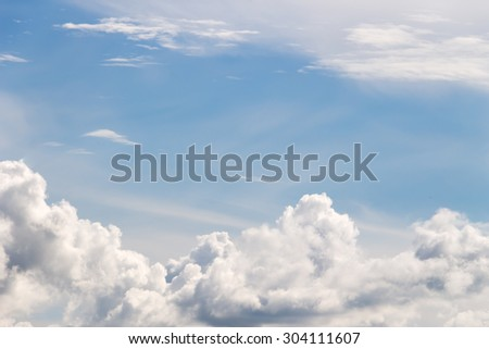 Sky clouds blue - stock photo