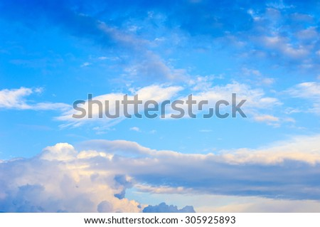 sky clouds texture, background. Dramatic cotton candy sky cloud texture background - stock photo