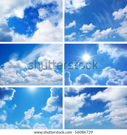 Sky daylight collection. Natural sky composition. Element of design. - stock photo