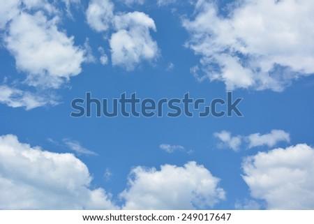 Sky daylight. Natural sky composition - stock photo