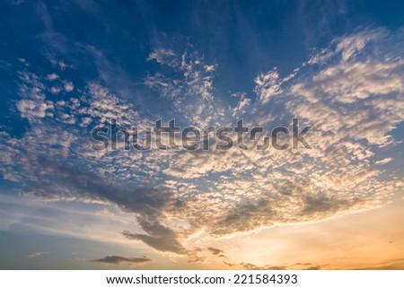 Sky evening - stock photo