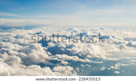Sky from above MajesticCloud View - stock photo