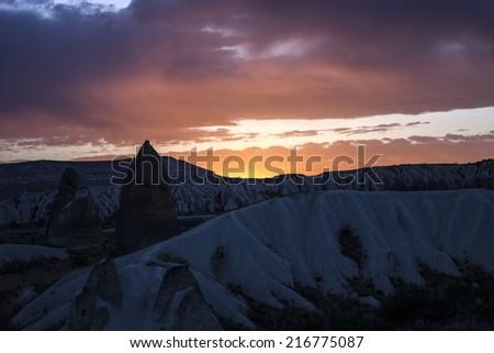 Sky in Cappadoccia, Turkey  - stock photo