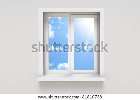 Sky in the window - stock photo
