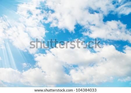 Sky light - stock photo