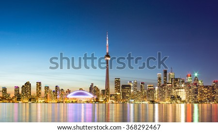 Sky line of Toronto, Canada - stock photo