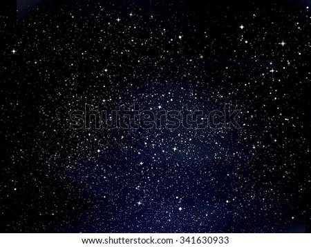 Sky night background  - stock photo