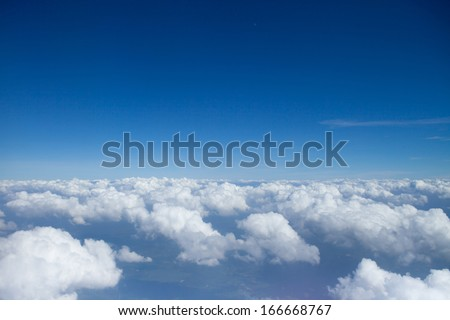 Sky over clouds - stock photo