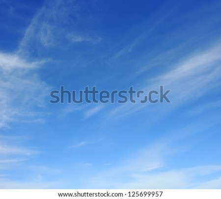 Sky over horizon and clouds. Morning sky. - stock photo