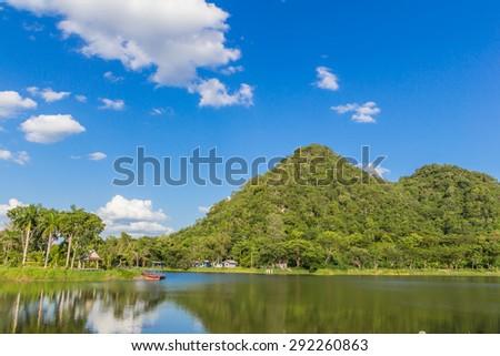Sky River Mountain - stock photo