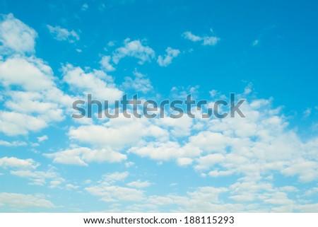 Sky scape blue daytime sky - stock photo
