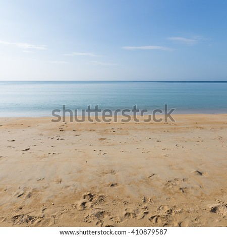 Sky, sea and beach in Phuket and clear during the daytime hot. - stock photo