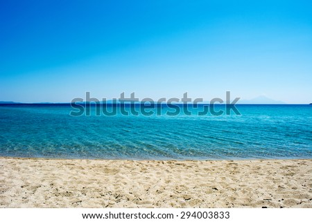 Sky, sea and sand - seascape background - stock photo