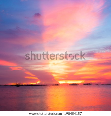 Sky sunset - stock photo
