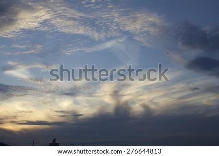 sky sunset clouds - stock photo