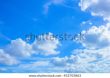 Sky, The blue sky with cloud - stock photo