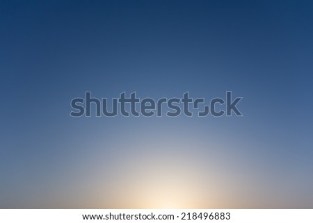 Sky, the evening sun slowly faded. And cloudless sky - stock photo