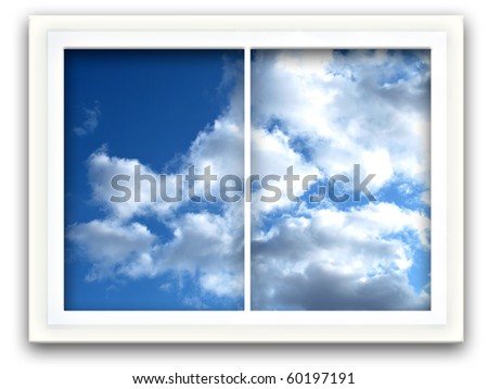 Sky Window - stock photo