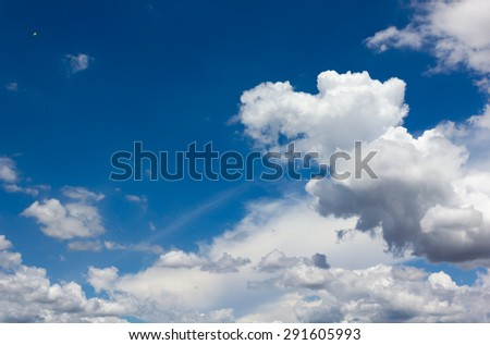 sky with cloud - stock photo