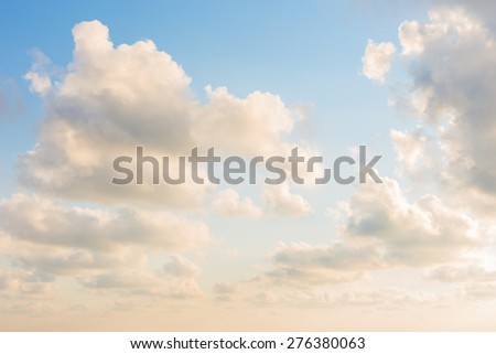 Sky with clouds for background - stock photo