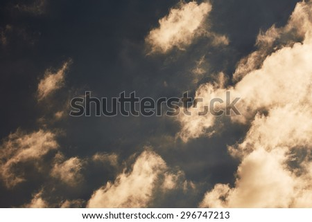 Sky with clouds. Nature background - stock photo