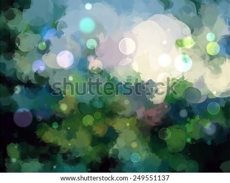 Sky with stars brush strokes background. Raster version - stock photo
