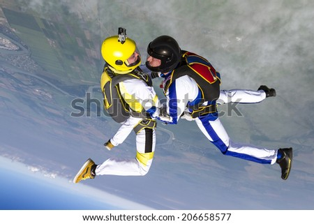 Skydiving photo. - stock photo