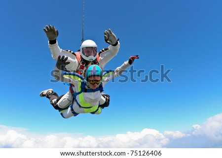 Skydiving photo - stock photo