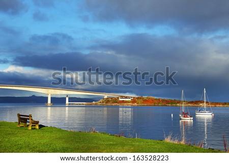Skye Bridge, Scotland, Europe - stock photo