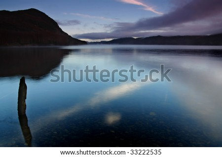 skye reflection over lochness - stock photo
