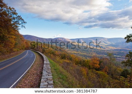 Skyland Drive, Shenandoah National Park, Virginia, VA, USA - stock photo