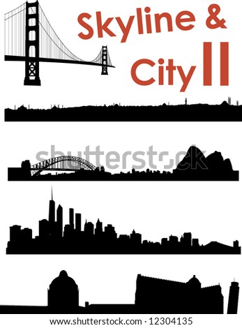 Skyline and City II Background - stock photo