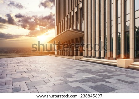 skyline and modern office building - stock photo