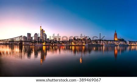 Skyline, Frankfurt am Main - stock photo