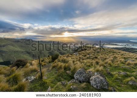 Skyline Gondola Christchurch, New Zealand - stock photo