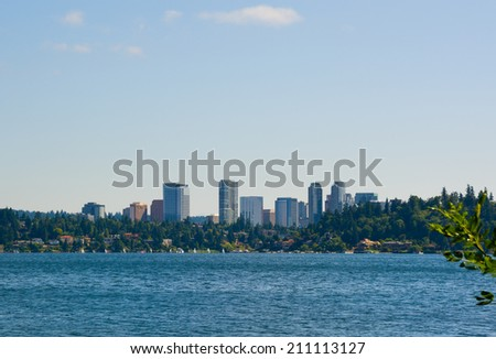 Skyline of Bellevue Washington - stock photo