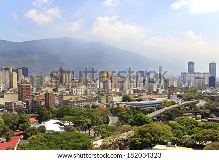 Skyline of Caracas city. Capital of Venezuela - stock photo