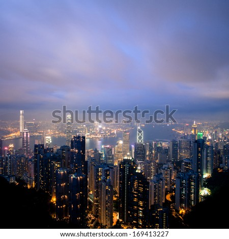 Skyline of City - stock photo