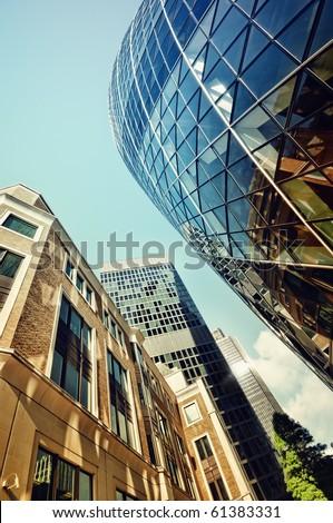 Skyline of City of London. - stock photo