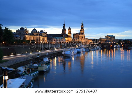 Skyline of Dresden, Germany - stock photo