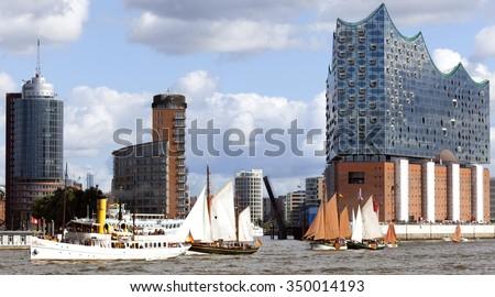 Skyline of Hamburg, Germany - stock photo