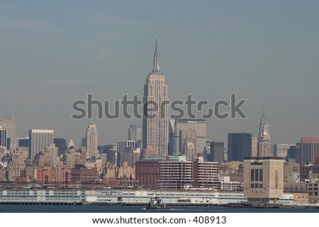 Skyline of Manhattan - stock photo