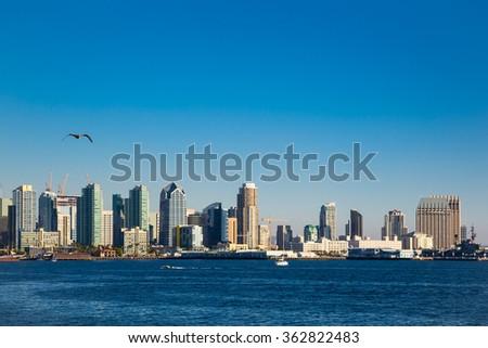 Skyline of San Diego, united states - stock photo