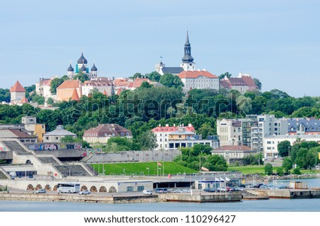 Skyline of Tallinn, Estonia - stock photo