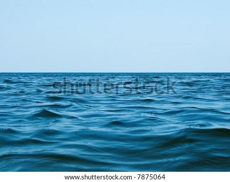 Skyline on the sea - stock photo