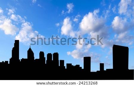 skyline philadelphia - stock photo