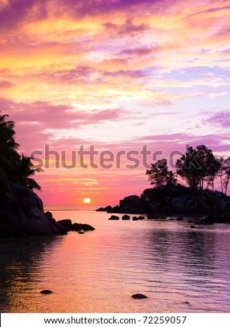 Skyline Sea Fantasy - stock photo