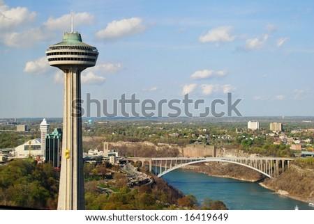 Skylon Tower at Niagara Falls - stock photo