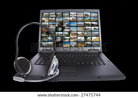 Skype technology concept. See portfolio for similar Images - stock photo