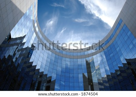 Skyscraper in daylight, Paris - stock photo